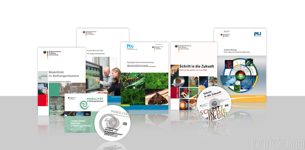 Corporate Design, DTCOM GmbH, Dr. Peter Dreschmann, Broschüren Flyer, Banner, Poster, Geschäftsausstattung, CD und DVD Gestaltung und Produktion, Wissenschaftskommunikation, Technik Kommuniktion,