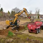 Abschließende Dioxin Sanierung (Kieselrot) in Bottrop Die Doppelhaus-Neubausiedlung ist in der Vermarktung.