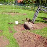 Untersuchung von zwei Flächen auf die im Boden anstehende Dioxin Belastung  - Sportplatz in Leeden im Kreis Steinfurt.